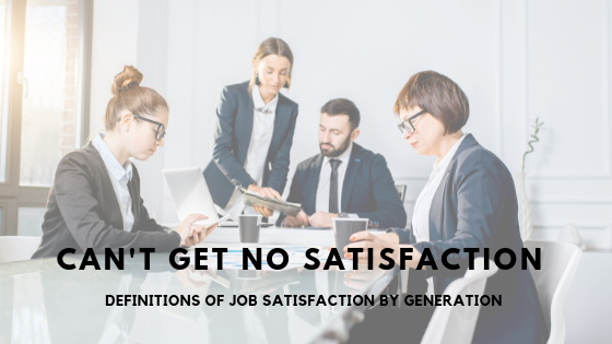 job satisfaction by generation